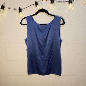 Talbots Silk Blue Tank Top Size 14